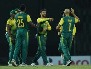 South Africa have a three-match T20 international series in Zimbabwe next month.  By LAKRUWAN WANNIARACHCHI (AFP/File)