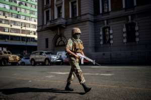 South Africa has begun a 21-day military-enforced lockdown to combat the virus.  By Michele Spatari (AFP)