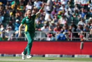 South African bowler Dale Steyn, pictured in 2016, has not played since breaking down with a stress fracture of his right shoulder.  By GIANLUIGI GUERCIA (AFP/File)
