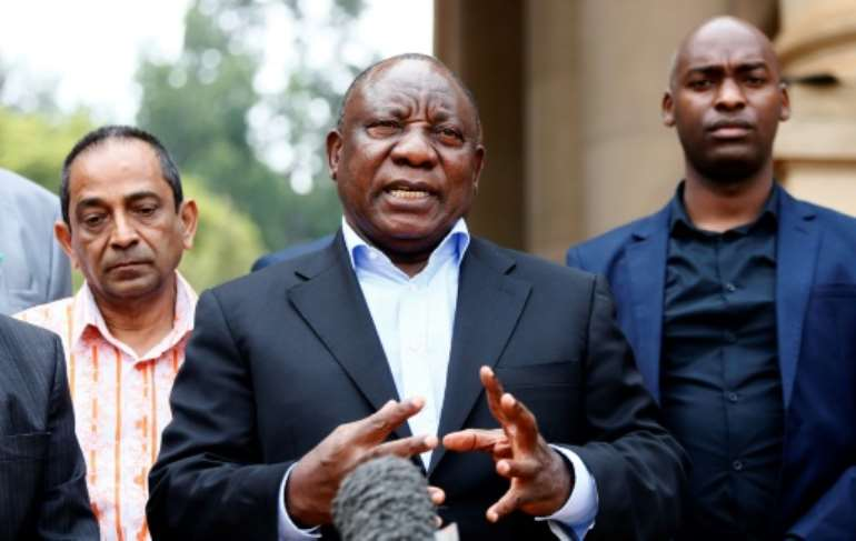 South African president and African Union chairperman Cyril Ramaphosa said the coronavirus represents a setback to the continent's progress.  By Phill Magakoe (AFP/File)