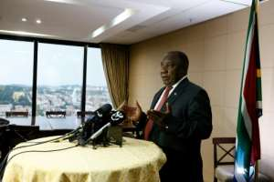 South African President Cyril Ramaphosa has announced a 21-day national lockdown to start at midnight on March 26.  By Phill Magakoe (AFP)