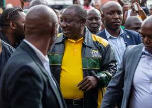 South African President Cyril Ramaphosa has vowed to tackle corruption. By WIKUS DE WET (AFP/File)