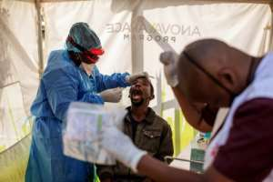 South Africa's coronavirus screening and testing is modelled on years of experience with tuberculosis and HIV.  By Michele Spatari (AFP)