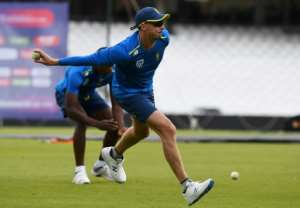 South Africa's Dale Steyn takes part in a training session at the Oval on May 28, 2019.  By Dibyangshu SARKAR (AFP)