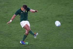 South Africa's fly-half Handre Pollard played the last time the two teams met in a World Cup.  By Behrouz MEHRI (AFP)