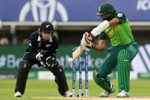 South Africa's Hashim Amla passed 8,000 ODI runs during his World Cup innings against South Africa.  By Oli SCARFF (AFP)