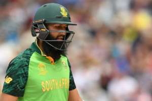 South Africa's Hashim Amla passed the milestone of 8,000 ODI runs during his World Cup innings against New Zealand.  By Oli SCARFF (AFP)