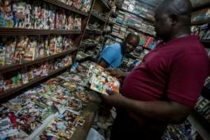 Spoilt for choice: Nigeria churns out 2,500 films every year.  By CRISTINA ALDEHUELA (AFP)