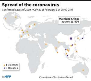 Countries or territories with confirmed cases of the new coronavirus.  By  (AFP)