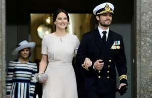 Sweden's Prince Carl Philip and his wife Princess Sofia are in self-isolation after testing positive for Covid-19.  By Maja Suslin/TT (TT News Agency/AFP/File)