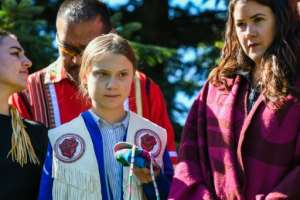 Swedish climate change activist Greta Thunberg could be among the Nobel Peace prize picks this year, Liberian laureate Laymah Gbowee.  By MARTIN OUELLET-DIOTTE (AFP)
