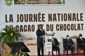 Sweet announcement: Ouattara unveiled the price hike on National Cocoa and Chocolate Day.  By SIA KAMBOU (AFP)