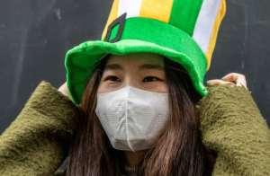 St Patrick's Day festivities were cancelled in Dublin.  By Paul Faith (AFP)