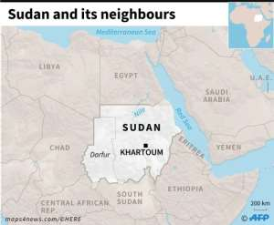 Map of Sudan and its neighbouring countries.. By (AFP)