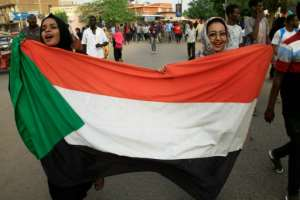 Sudanese women have been at the forefront of the protests.  By Ebrahim Hamid (AFP)