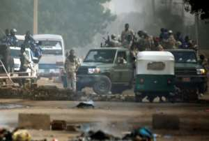 Sudanese forces launch a crackdown on anti-government protestors on June 3 which left at least 110 dead.  By ASHRAF SHAZLY (AFP/File)