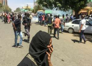 Sudanese police fired teargas at protesters outside the military headquarters in the capital Khartoum. By - (AFP)