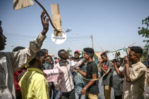 Sudanese protesters are angry because state TV failed to cover the protests until Bashir was deposed. By OZAN KOSE (AFP/File)