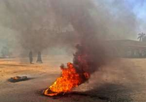 Sudanese protesters burn tyres during an anti-government demonstration on January 18, 2019 in the capital Khartoum. By - (AFP/File)