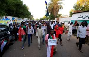 Sudanese protesters call upon authorities to deliver justice for those killed in demonstrations against now ousted autocrat Omar al-Bashir.  By ASHRAF SHAZLY (AFP)