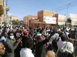 Sudanese protesters chant anti-government slogans during a demonstration in the capital Khartoum on January 6, 2019.  By - (AFP)