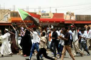 Sudanese protesters chant