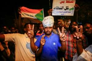 Sudanese protesters rallied against the new military council in Khartoum on Thursday evening despite army warnings it would enforce a curfew. By ASHRAF SHAZLY (AFP)