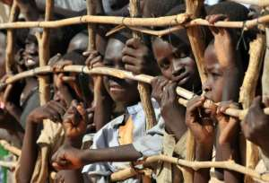 Sudanese refugee children are among the roughly 2.5 million people displaced by the conflict in Darfur, according to UN figures.  By PHILIPPE HUGUEN (AFP)