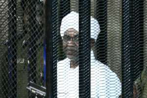 Sudan's ex-president Omar al-Bashir appears during an August court appearance in his trial on charges of illegally acquiring and using foreign funds.  By Ebrahim HAMID (AFP/File)
