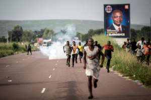Supporters of Democratic Republic of Congo opposition leader and presidential candidate Martin Fayulu took to the streets to protest the result.  By John WESSELS (AFP)