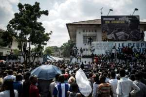 Supporters of Felix Tshisekedi have been celebrating his victory after the release of the official results, despite allegations of a fix from the second-placed candidate.  By John WESSELS (AFP)