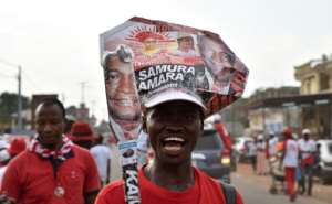 Supporters of the ruling party in Sierra Leone, which has campaigned on continuity rather than change, turned out for rallies ahead of the vote.  By ISSOUF SANOGO (AFP/File)