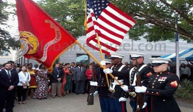 COLOUR DISPLAY BY US MARINE CORPS
