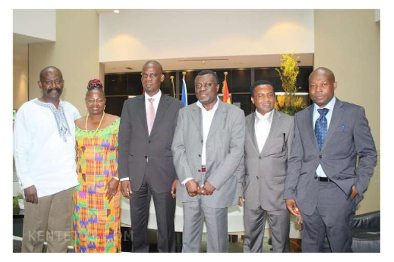 GHANA COUNCIL LEADERS WITH TRADE MINISTER