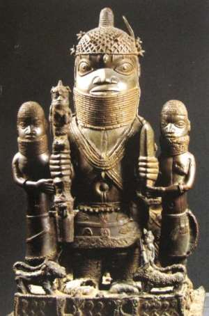 Altar Group, Oba Akenzua I, Benin, Nigeria, now in Ethnologisches Museum, Berliun, Germany