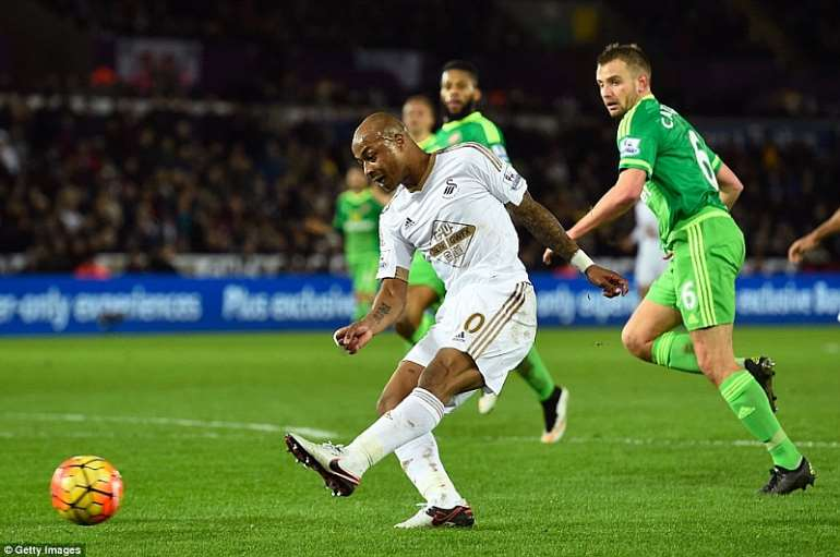 Andre Ayew excelled for Swansea