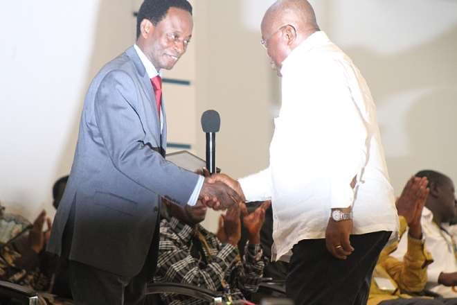 APOSTLE DR. OPOKU ONYINAH WELCOMING NANA ADDO