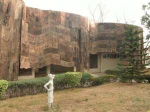 KNUST Museum covered with jute sacks