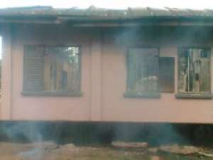 Fire Guts One Of The Oldest Buildings In Akuse
