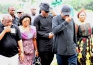 Photos from President Jonathan Brother's burial