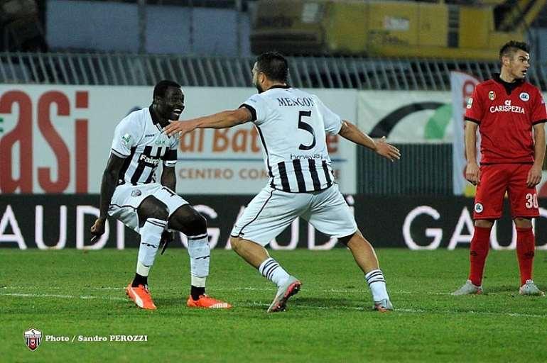 Bright Addae scored for Ascoli