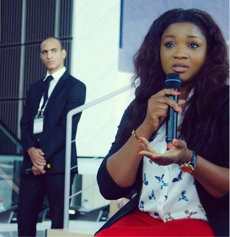 Gorgeous Omotola speaks at the WISE Summit in Doha,Qatar(PHOTOS)