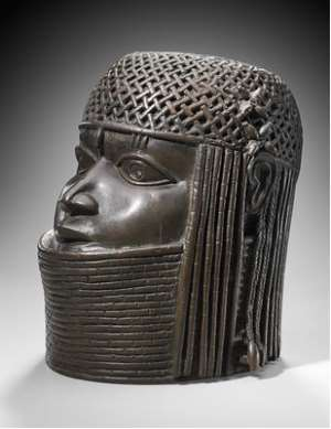 Commemorative head, Benin, Nigeria, now in Ethnology Museum, Vienna, Austria.