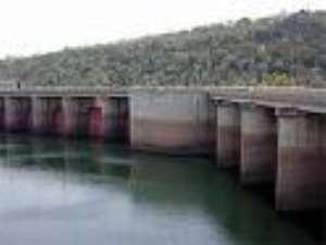 Water level at Akosombo Dam