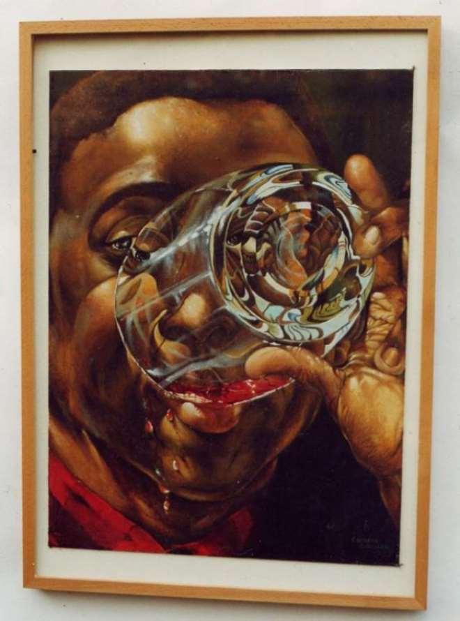Drunkeneness Painting,Eugene Ankomah