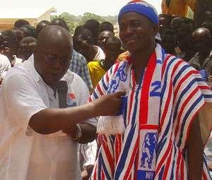 Nana Akufo-Addo introducing Frank Fuseini to the crowd
