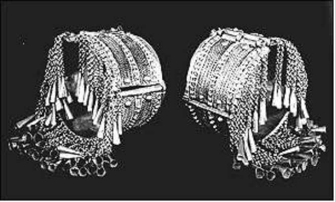 Ethiopian anklets, British Museum, London, United Kingdom.