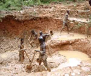 Galamsey operators are believed the destroy the environment a great deal