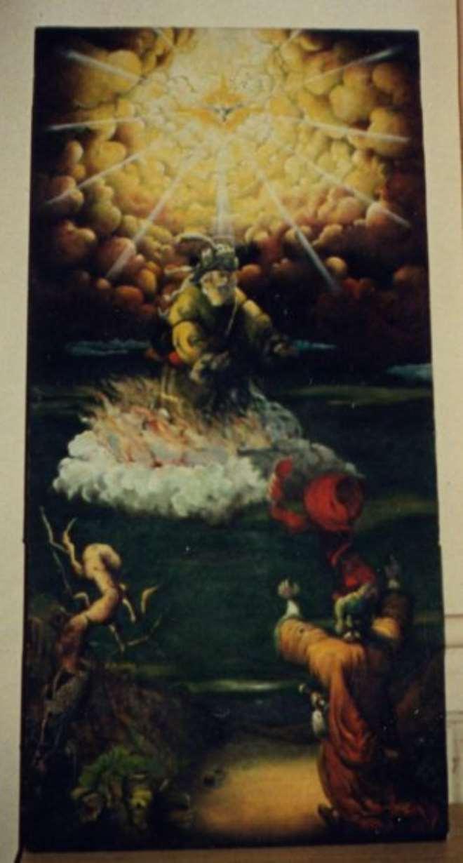 Elijah Ascending To Heaven Painting, Eugene Ankomah