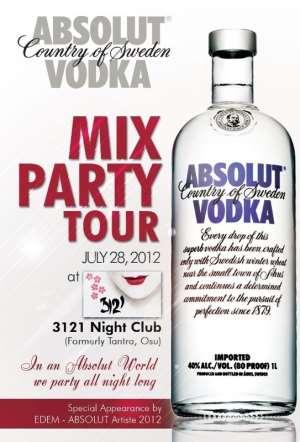 ABSOLUT VODKA MIX PARTY TOUR - 4 EDITION